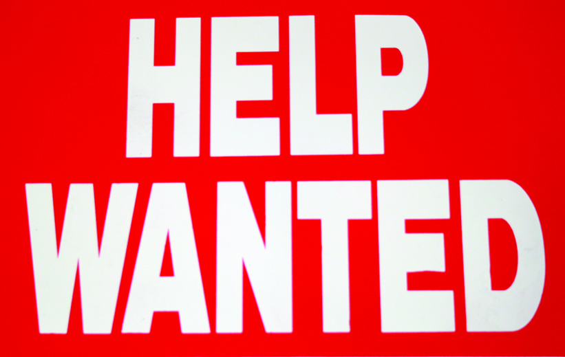 help wanted.