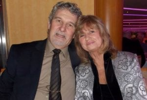 Frank Arnold with his wife Barbara