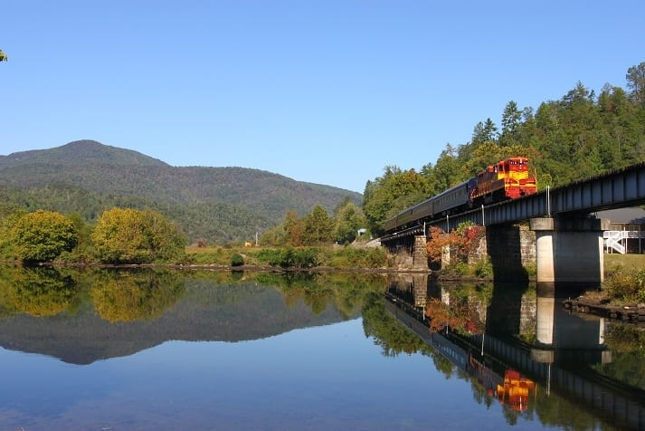 Hiwassee River Gorge Autumn Train