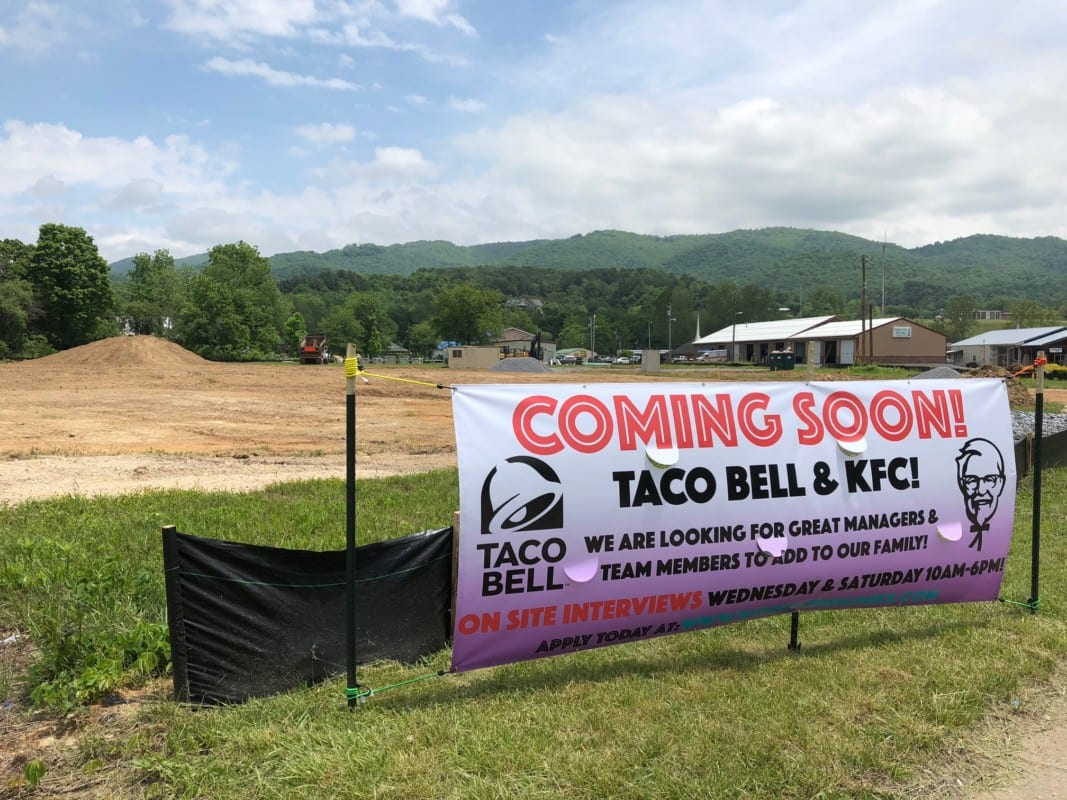 Construction underway for new Taco Bell and KFC - The Tomahawk ...